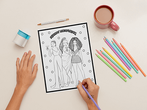 sketch-paper-mockup-featuring-a-woman-coloring-31038